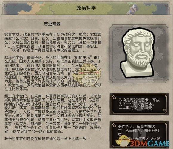 《文明6》政治哲学历史背景一览