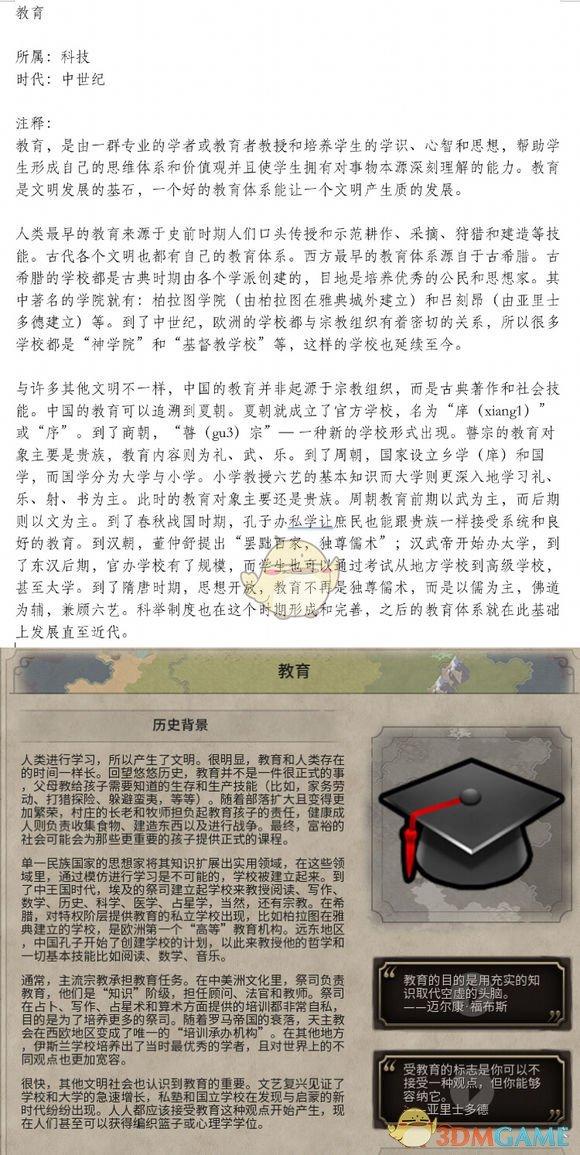 《文明6》教育历史背景一览