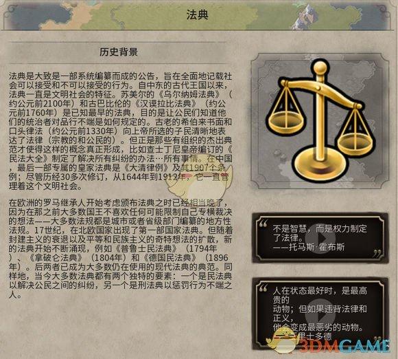 《文明6》法典历史背景一览