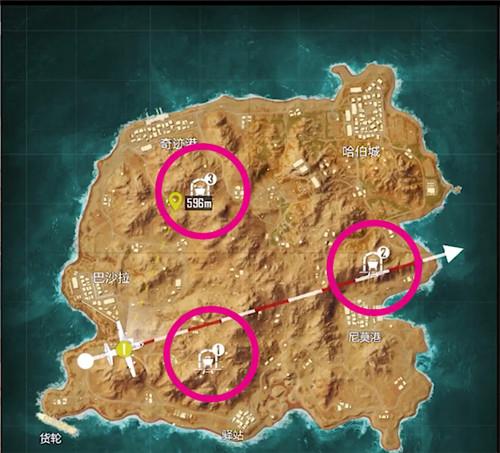 和平精英黄金岛矿机位置 和平精英黄金岛矿机在哪里